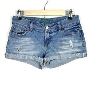 Delia's Taylor Cut Off Jean Shorts Distressed